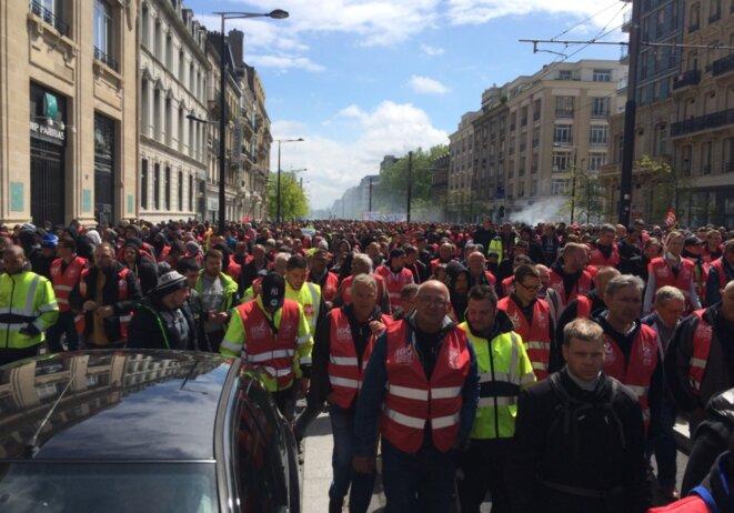 La manifestation du 19 mai dans le centre-ville du Havre © MG