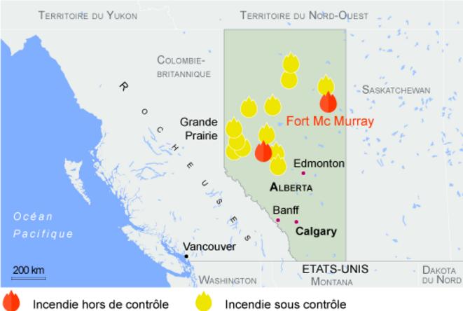 Incendies en Alberta vue générale © gouvernement de l'Alberta