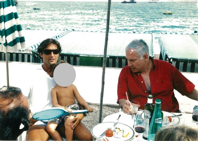 Arnaud Mimran and Benjamin Netanyahu at Monaco in 2003. © DR
