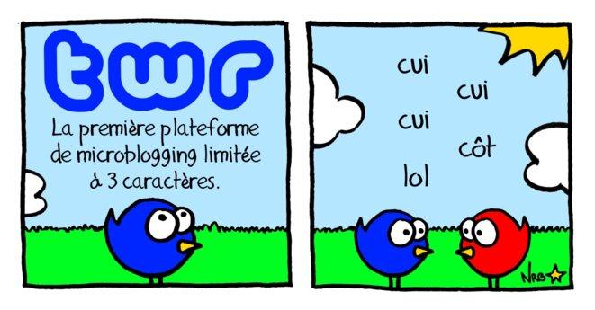 TWR: la première plateforme de microblogging limitée à 3 caractères! © Norb