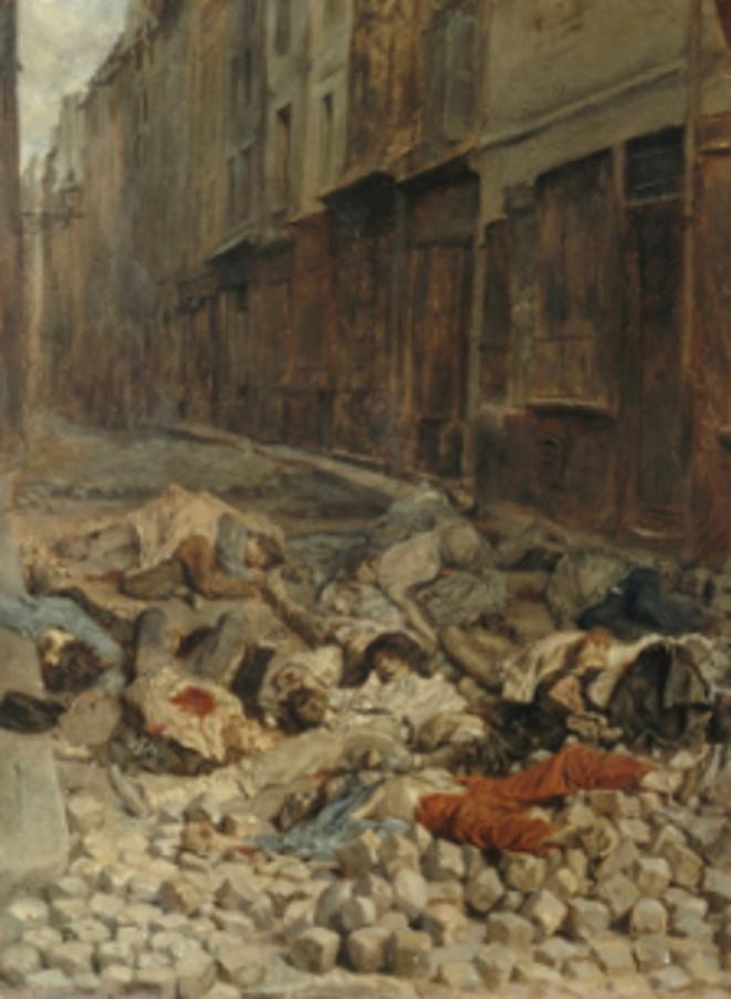 «Casseurs» du XIXe siècle… Ernest Meissonier – La Barricade, rue de la Mortellerie, juin 1848, Huile sur toile, Louvre.