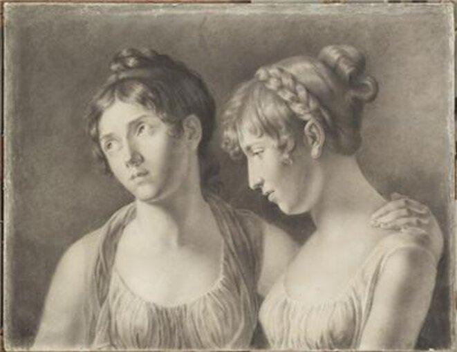 Louise Aglaé Auguié et Hortense de Beauharnais