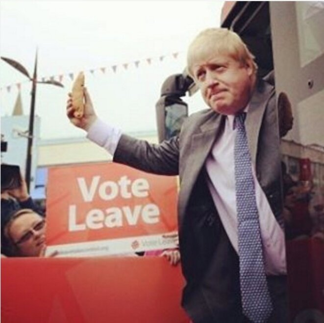 Boris Johnson défendant la sortie de l'UE © Vote Leave Campaign