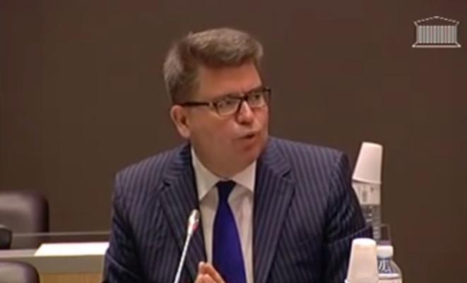 Bruno Bézard, lors de son audition à l'Assemblée sur l'affaire Cahuzac
