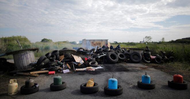 Mercredi 25 mai, près de la raffinerie de Donges (Loire-Atlantique). © Reuters