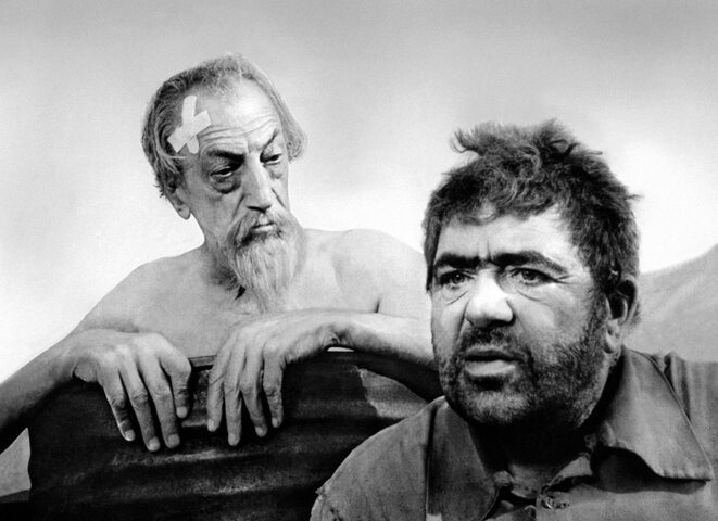 Don Quichotte et Sancho Pança dans le film d'Orson Welles