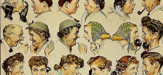 """""""The gossip"""" (la rumeur), par Norman Rockwell"""