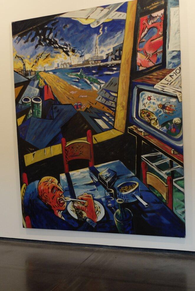 """""""Les jours heureux"""", par Philippe Hortala, Toulouse, 1985. exposition Les Abattoirs [Ph. YF]"""