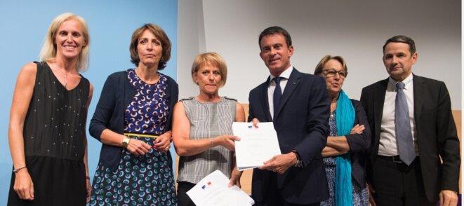 Remise du rapport Bourguignon au premier ministre, le 2 septembre 2015 [site du gouvernement]