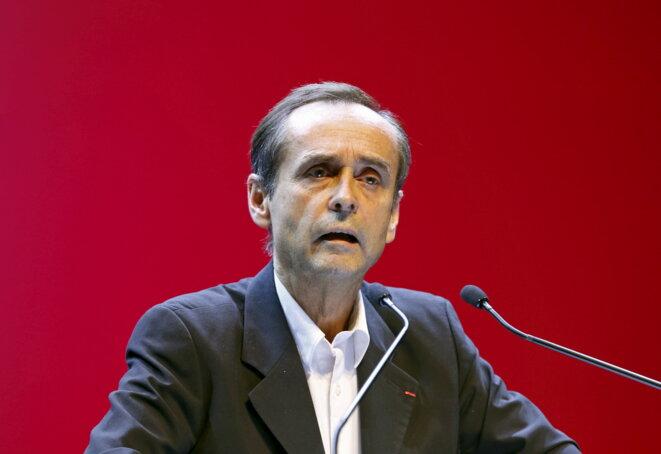 Robert Ménard, le 1er décembre 2015, lors d'un meeting du FN à Toulon, pendant les régionales. © Reuters