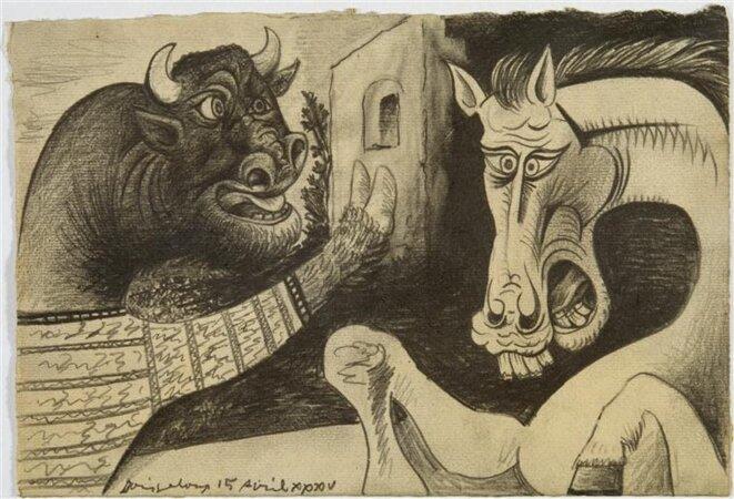Minotaure et cheval, 1936