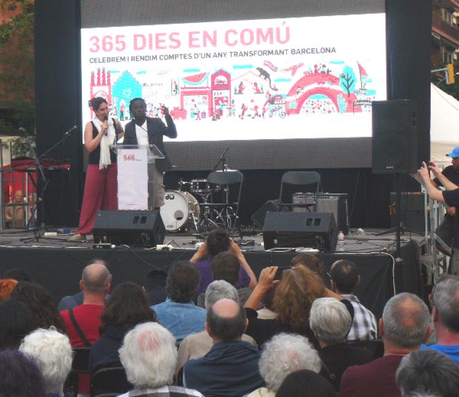 Maki, de Nuit Debout, a salué l'expérience barcelonaise.