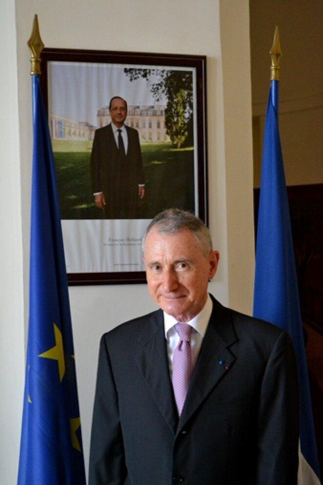 Jean-Pierre Vidon, nommé ambassadeur au Congo-Brazzaville en mai 2014 pour une mission de deux ans. Il vient d'être remplacé par Vincent Cochery.