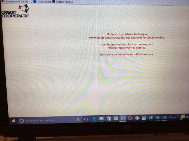 Le site internet du Crédit coopératif, samedi 4 juin à 19 h