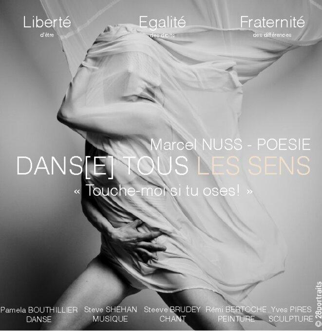 """Affiche """"Dans(e) tous les sens"""" © Pamela Bouthillier"""