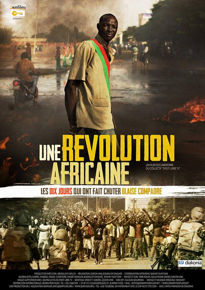 Affiche du film Une révolution africaine qui sera projeté le 22 Juin