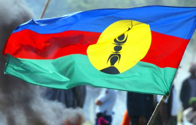 Le drapeau de la Kanaky ou Calėdonie.