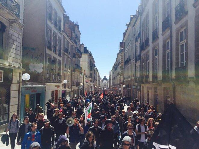 Cortège du 1er mai à Rennes © (c) Assemblée générale de Rennes 2