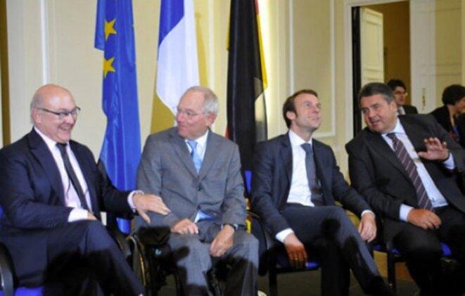 Réunion entre les ministres de l'économie et des finances français et allemands à Berlin le 20 octobre 2014 © france-allemagne.fr