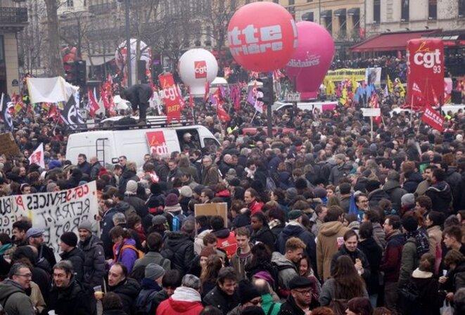 Manifestation le 9 mars à Paris © Rachida El Azzouzi