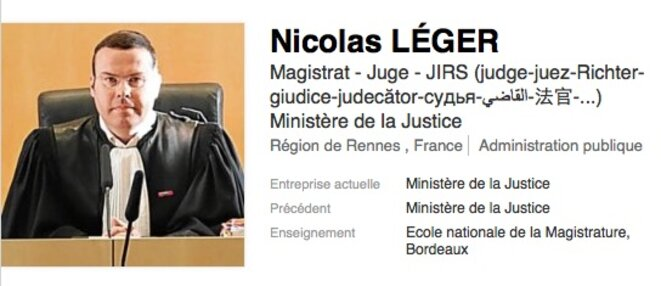 Le vice-président du tribunal et patron de la JIRS, Nicolas Léger © DR