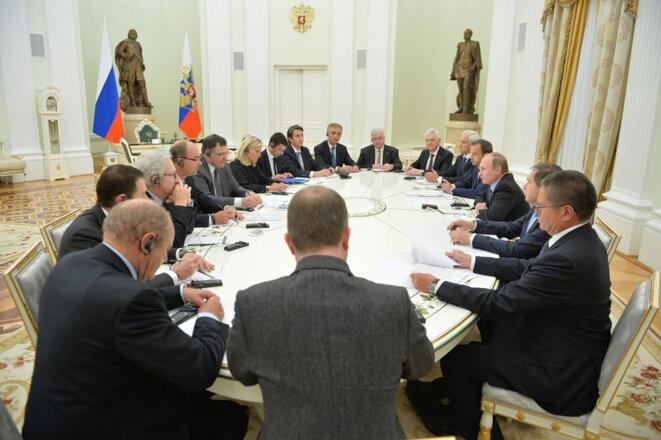 Vladimir Poutine reçoit les patrons français