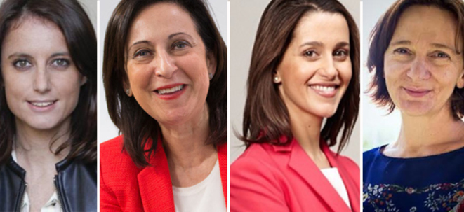 Andrea Levy (Parti Populaire), Margarita Robles (Nº2 PSOE Madrid), Inés Arrimada (Ciudadanos), Carolina Bescansa (Nº2 Podemos Madrid)