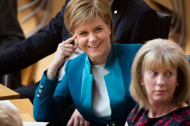 L'indépendantiste Nicola Sturgeon au Parlement écossais, le 17 mai 2016. © James Glossop / Reuters