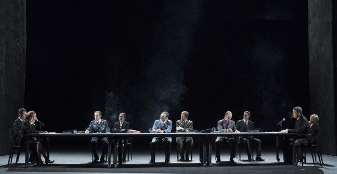 «Ça ira (1) Fin de Louis», pièce mise en scène par Joël Pommerat. © Elisabeth Carecchio