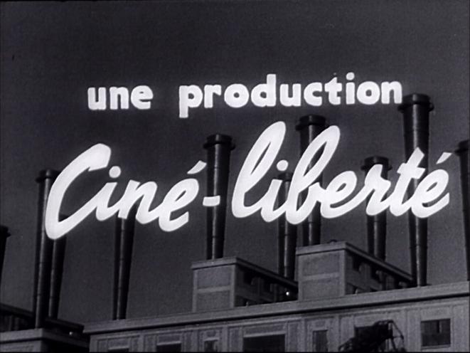 Générique du film Les Métallos - Ciné-Liberté, 1938