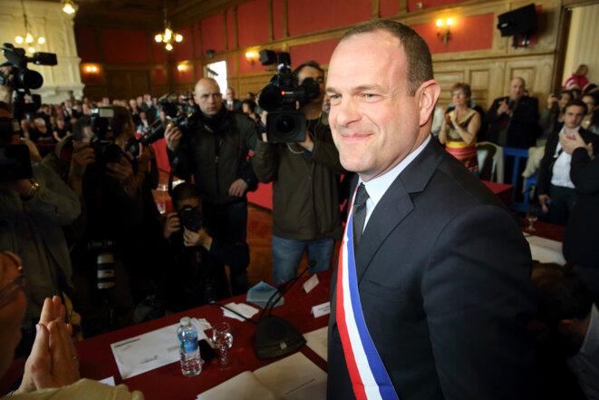 Steeve Briois, maire d'Hénin-Beaumont, le 30 mars 2014 © Reuters