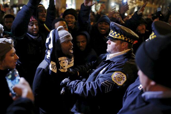 28 novembre 2015. Manifestation après la mort de Laquan McDonald © Reuters