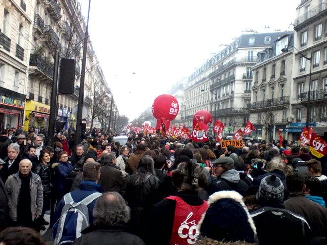 Scène de manif ordinaire à Paris