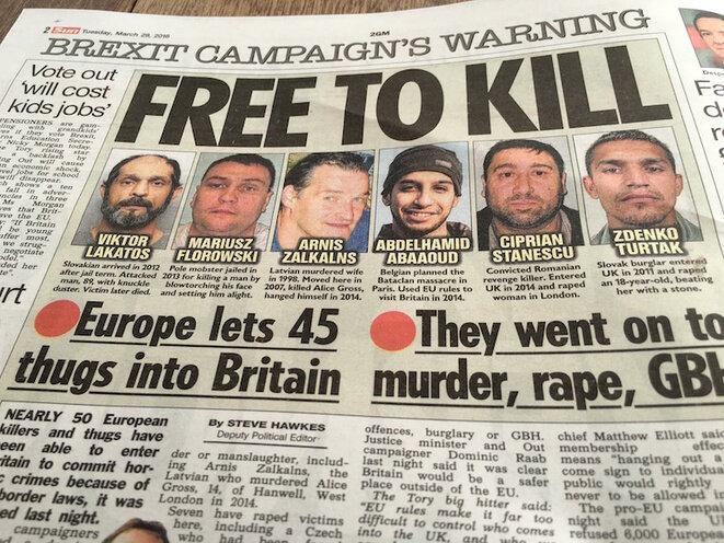 """""""Libres para matar"""", los tabloides británicos y su propaganda contra la inmigración en la UE. © TC"""