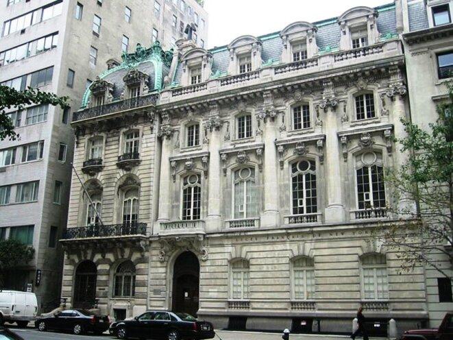 La Sloane Mansion, hôtel particulier de 20 000 m2 de style français construit en 1896, est situé dans le quartier le plus cher de New York, à côté de Central Park © DR