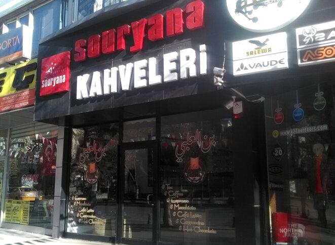Boutique vendant du café syrien dans le centre-ville de Gaziantep © Alain Devalpo