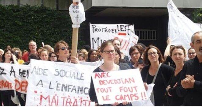 Le Parisien du 21 juin : 300 éducateurs dans la rue