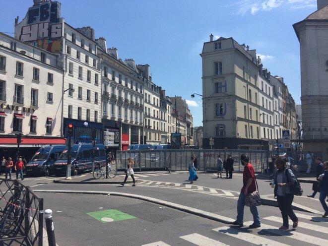 La place de la Bastille au début de la manifestation © EP