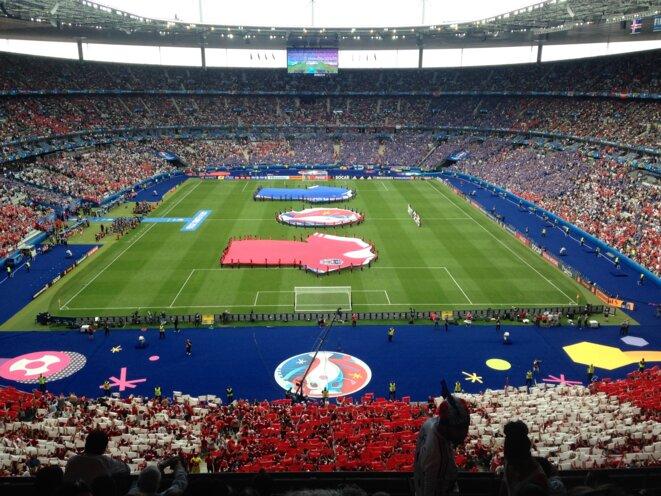 Islande-Autriche au Stade de France, le 22 juin 2016. © Pierre Puchot