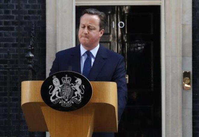 """Le premier ministre britannique, David Cameron, a annoncé vendredi qu""""il démissionnerait d""""ici octobre. © Reuters"""