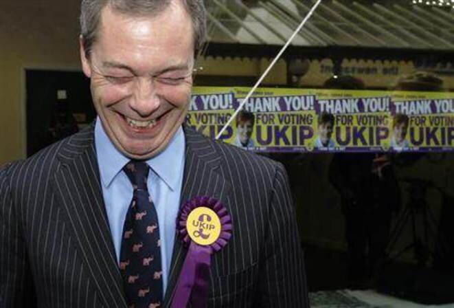 Nigel Farage, l'incendiaire du parti UKIP. © Reuters