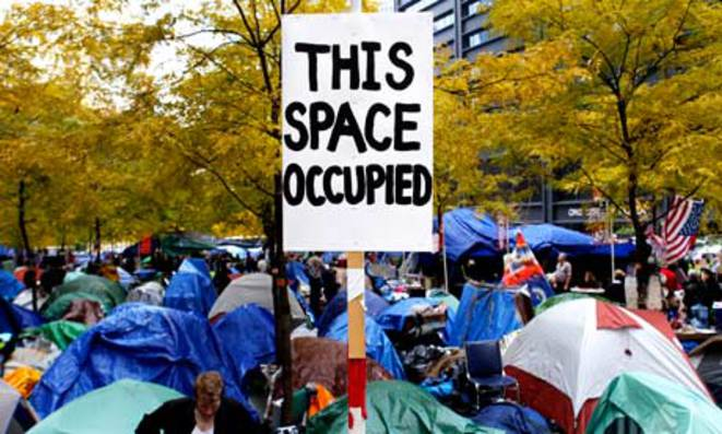 Zucotti Park, Occupy Wall Street, New York, sept 2011