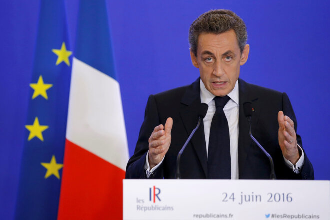 Prise de parole de Nicolas Sarkozy le 24 juin 2016 © Stéphane Mahe - Reuters
