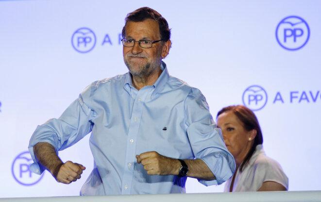 Mariano Rajoy le 26 juin 2016, après l'annonce des résultats. © Marcelo del Pozo - Reuters.