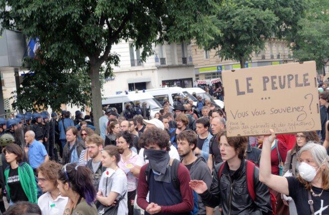 Manifestation contre la loi sur le travail, 28 juin 2016 © Rachida EL Azzouzi