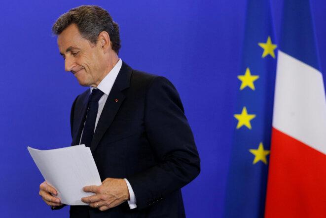 Nicolas Sarkozy au siège de LR, le 24 juin. © Reuters