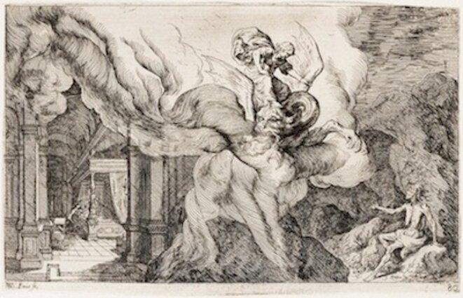 Ceres impose la faim pour torturer Erysichthon. © Johann Wilhelm Baur, German (1607 - 1641).