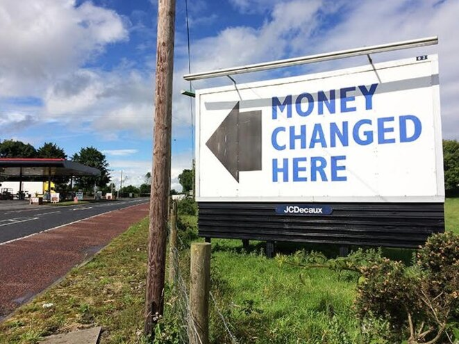 À Dundalk, à la frontière entre l'Irlande du Nord et la République d'Irlande. © M.T. / Mediapart