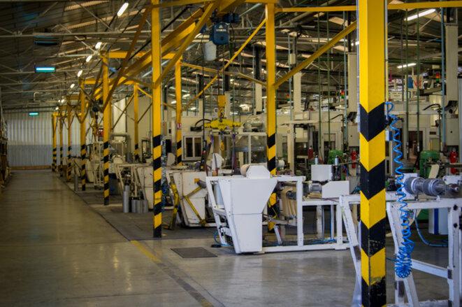 L'un des hangars de l'usine