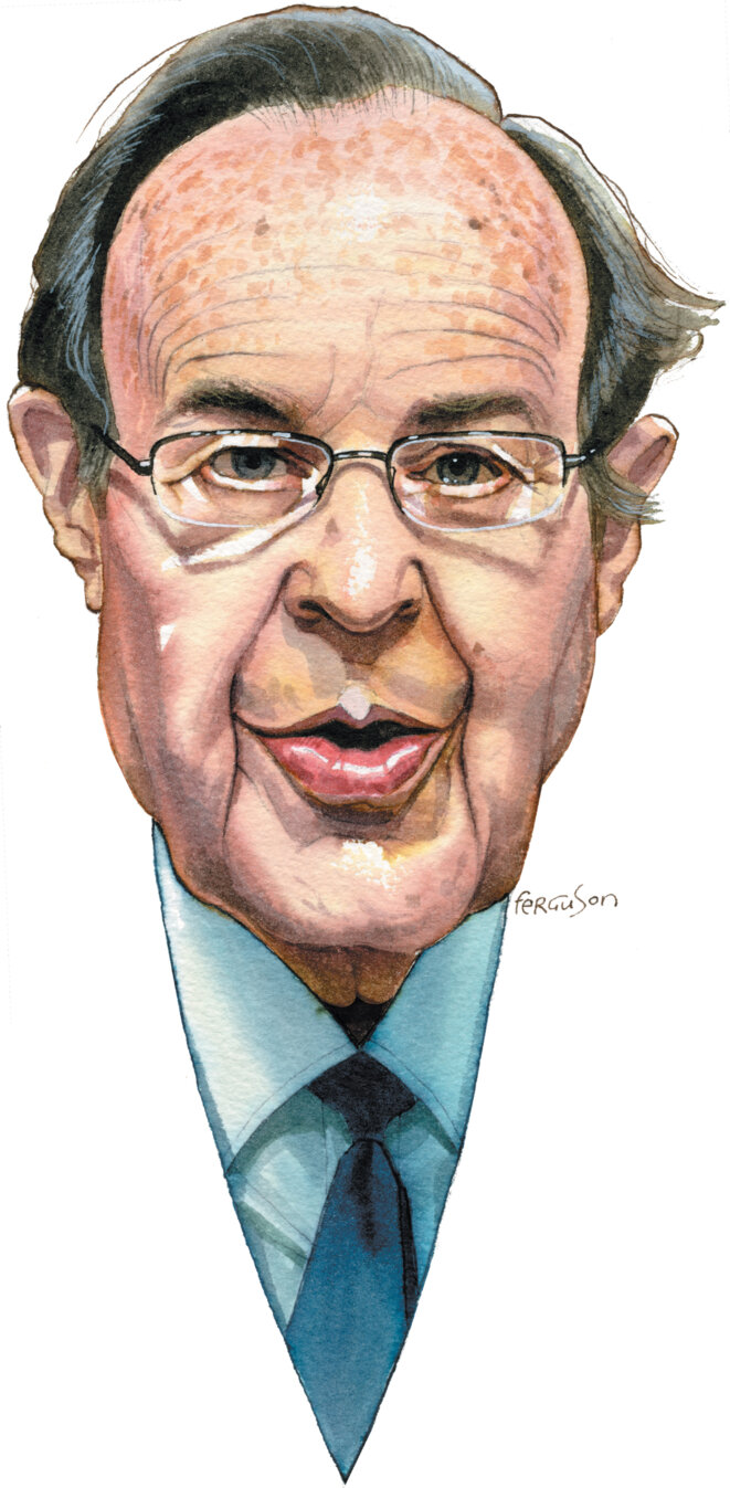 William J. Perry; dessin de James Ferguson © http://www.nybooks.com/articles/2016/07/14/a-stark-nuclear-warning/